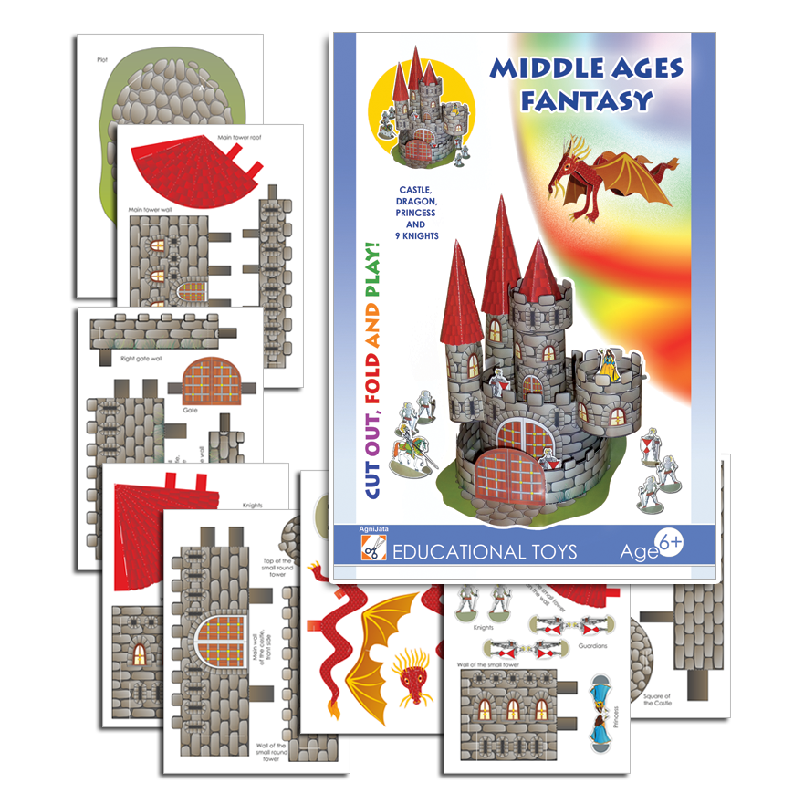 Agnijata Educational Toys - Middle Ages Fantasy Craft Set