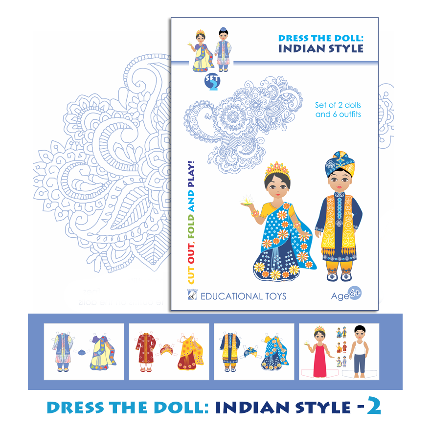 Agnijata Educational Toys - Dress the Doll: Indian Style Craft Set