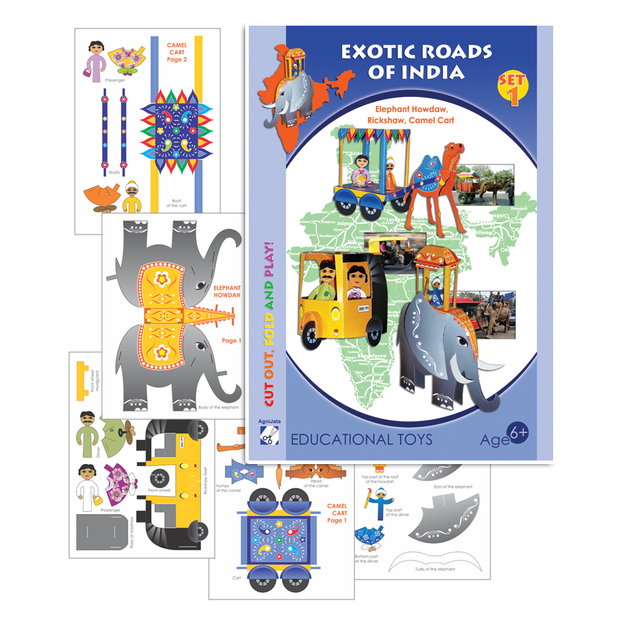 Agnijata Educational Toys - Exotic Roads of India Set1