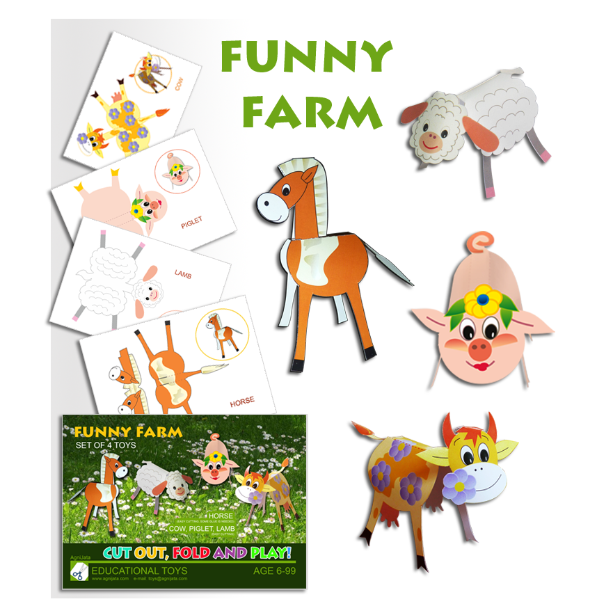 Agnijata Educational Toys - Funny Farm Craft Set
