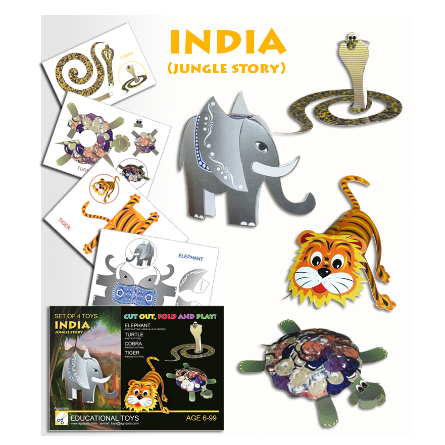Agnijata Educational Toys - Jungle Story Craft Set
